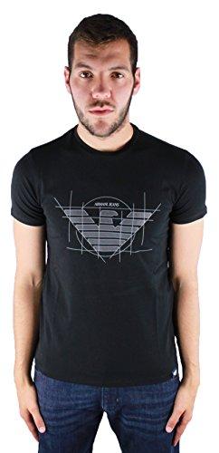 Armani Jeans 6Y6T12 6J0AZ Black 1200 Herren T-Shirt Schwarz