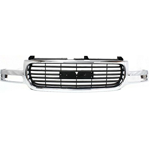 Evan-Fischer EVA17772012150 Grille for GMC Sierra 99-02 Yukon 00-06 Chrome Shell/Painted-Black Insert Plastic (Yukon Grille 03 Gmc 04)