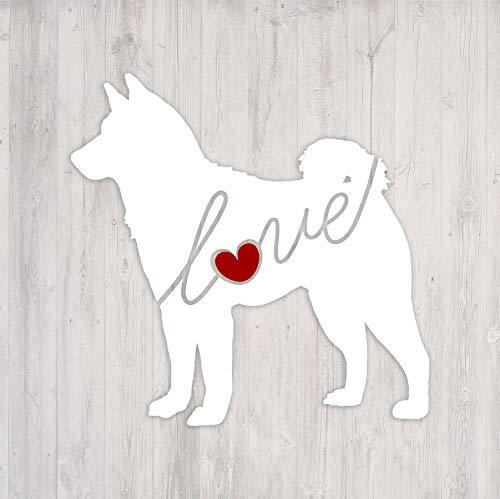 - Shiba Inu Love - Car Window Vinyl Decal Sticker (Script Font)