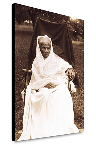 Canvas Print 12x18: Harriet Tubman, Full-Length Portrait, Seated in Chair, Facing. ()