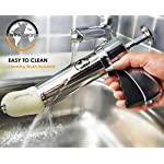 Earth's Dreams Cookie Press Gun Kit - Cleaning Brush Included: Dough Churro Maker, Spritz Biscuit Stainless Steel Decorating Set With 20 Shape Discs And 8 Icing Tips - Baking Supplies 14 BEAUTIFUL HOMEMADE COOKIES: You can now create stunning spritz cookies at home with this unique biscuit decorating kit in your favourite baking supplies! The cookie press gun comes with 20 different design discs, so you can mould beautiful sugar cookies. We also provide you with 8 metal icing tips for amazing creations and professional results. PREMIUM QUALITY MATERIALS: The cookie maker is made with the best quality materials for unique durability, amazing results and easy use. The biscuit presser is made with stainless steel and strong plastic, so you can rest assured that you're getting the best. All the materials used are odorless and non-toxic, so they can be perfectly safe for you and your family! COMFORTABLE AND EASY TO USE: The sugar cookie gun has an ergonomic design that will give you a strong and comfortable grip so you can use it with ease. The biscuit press gun has a unique trigger design so all you have to do is press it and get stunning homemade cookies! The cookie maker will give you fast results for maximum convenience.