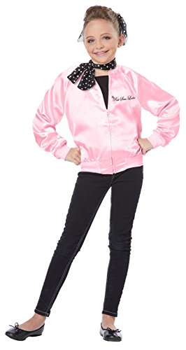 T-birds And Pink Ladies Costumes (TDmall 50S Grease T Bird / Pink Ladies Jacket Child Costume Fancy Dress)