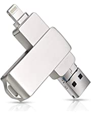 256 GB 3 in 1 USB Flash Drive, Memory Expansion Multi-Functions USB Stick Compatibel voor iPhone/Android/Windows