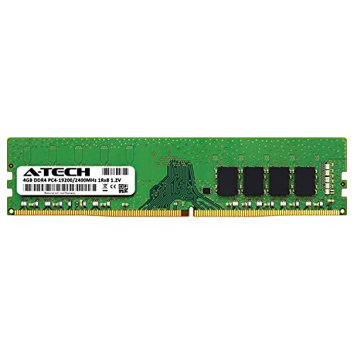 AT4G4D4D2400NS8N12V 4 x 4GB A-Tech 16GB DDR4 2400MHz Desktop Memory Kit PC4-19200 Non-ECC Unbuffered DIMM 288-Pin 1Rx8 1.2V Single Rank Computer RAM Upgrade Sticks