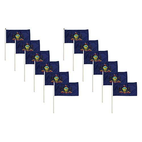 Pennsylvania Flag 12 x 18 inch (12 PK) For Sale