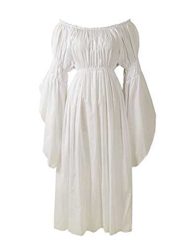ReminisceBoutique Renaissance Medieval Costume Pirate Faire Celtic Chemise Under Dress (Regular, -