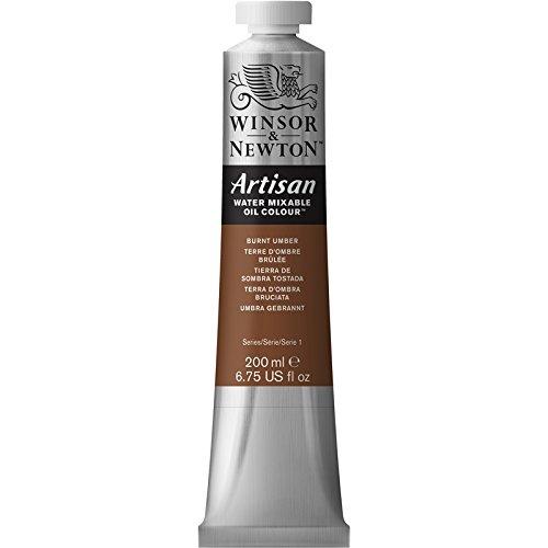 Burnt Umber Oil - Winsor & Newton Artisan Water Mixable Oil Colour Paint, 200ml Tube, Burnt Umber