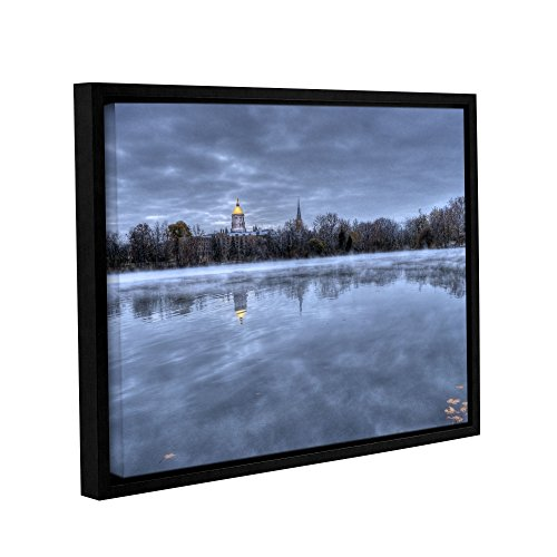 ArtWall Dan Wilson's The Basilica-Notre Dame Gallery Wrapped Floater Framed Canvas Artwork, 36 by 48-Inch