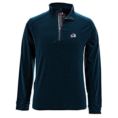 Levelwear LEY9R NHL Colorado Avalanche Men's Peak Banner Stripe Quarter Zip Mid-Layer Jacket, XX-Large, Navy