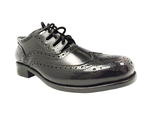 Pour homme Cuir Véritable Noir à Chaussures richelieu Ghillie pour Kilt à chaussures 6 (42)