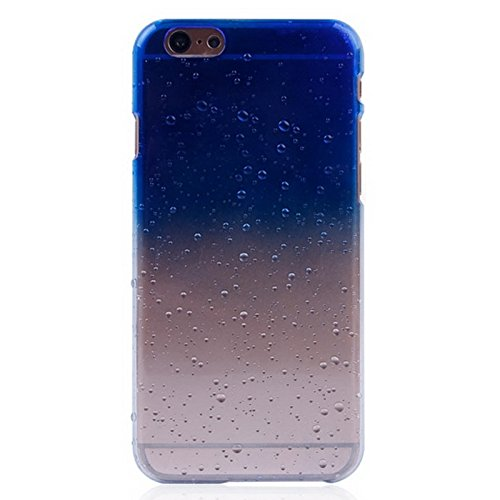 Mxnet Regentropfen Gradient Hard Case für iPhone 6 & 6S rutschsicher Telefon-Kasten ( Color : Dark Blue )
