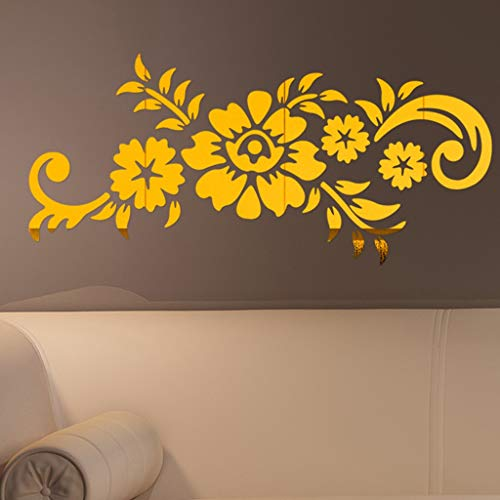 OrchidAmor 3D DIY Flower Fashion Acrylic Wall Sticker Modern Stickers Decoration 2019 -