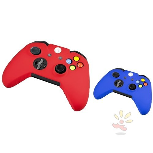 Everydaysource Compatible With Microsoft Xbox One / Xbox One S Controller Red, Blue Silicone Skin Case for Controller Review