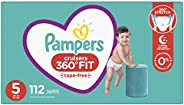 Diapers Size 5, 112 Count - Pampers Pull On Cruisers 360° Fit Disposable Baby Diapers with Stretchy Waistband,
