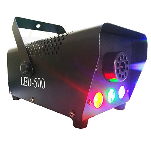 [Vitrust Professional RGB Fog Smoke Machine 400W Wireless Remote Control Cold Smoker Generator for Stage Party with LED Light smoke] (The Fog Machine)