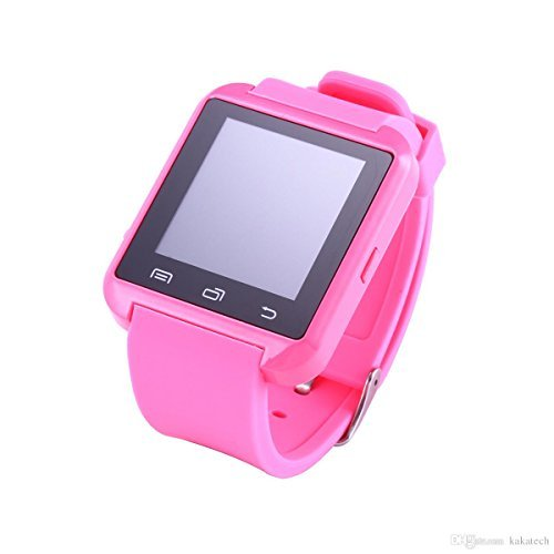 Amazingforless Bluetooth Touch Screen Smart Wrist Watch (U8 - Pink)