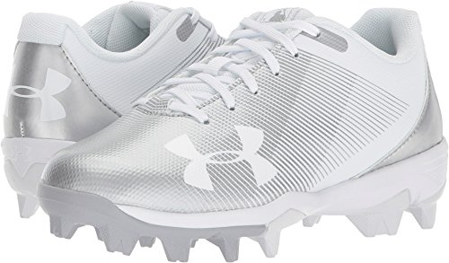 Under Armour Boys' Leadoff Low Jr. RM Baseball Shoe, White (100)/White, 4.5 by Under Armour