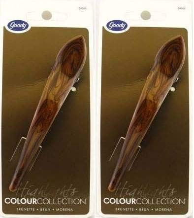 Goody Colour Collection Brunette Salon Hair Clip - 2 Count b