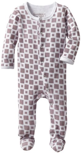 (L'ovedbaby Unisex-Baby Gloved Sleeve Overall, Miles-Of-Tiles Lavender, 12 Months)