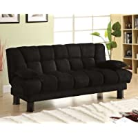 247SHOPATHOME IDF-2150 Futon-Sets, Full, Black