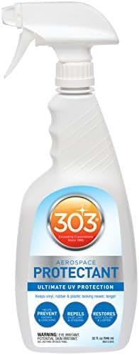 303 (30313-CSR) UV Protectant Spray for Vinyl, Plastic, Rubber, Fiberglass, Leather & More – Dust and Dirt Repellant - Non-Toxic, Matte Finish, 32 Fl. oz.