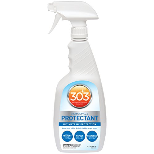 303 (30313-CSR) UV Protectant Spray for Vinyl, Plastic, Rubber, Fiberglass, Leather & More - Dust and Dirt Repellant - Non-Toxic, Matte Finish, 32 Fl. oz.