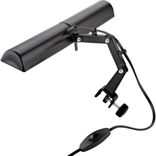 K&M 12260-000-55 - Lámpara para atril de partituras (doble cabeza), color negro