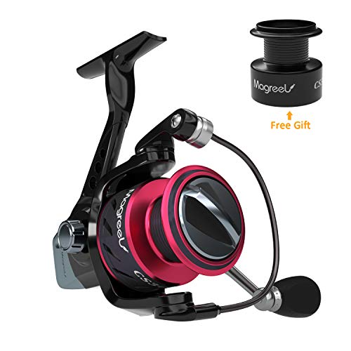 Magreel Spinning Fishing Reel 9 1 BB Extra-Smooth Lightweight Spinning Reel for Freshwater and Saltwater with Free Plastic Spool