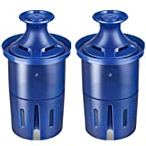 PHIG Longlast Water Filter, Longlast Replacement Filters for Pitcher and Dispensers, Reduces Lead, BPA Free - 2 Count