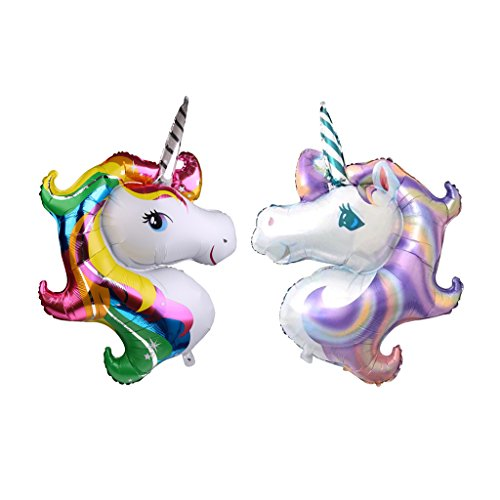MonkeyJack Pack of 2 Novelty Large Unicorn Foil Balloon Wedding Kids Birthday Party - Novelty Balloons