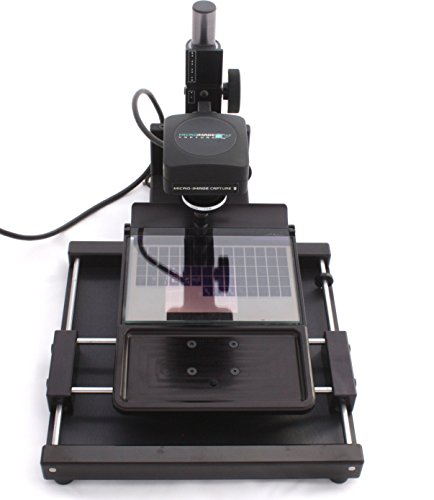 Micro-Image Capture 8 HD 18MP USB 3.0 Microfiche / Aperture Card Reader Scanner w/ 7-54X lens, Fiche/AP Card Carrier, Software, Footswitch, Cables & Instructions. 1 Yr. Warranty. (Microfilm Reader Printer)