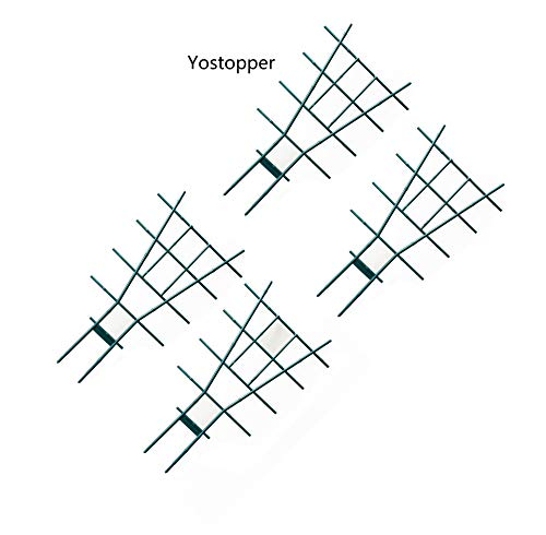 Yostopper Fan Pot Trellises Artificial Bamboo Pot Trellises for Climbing Plant, 19
