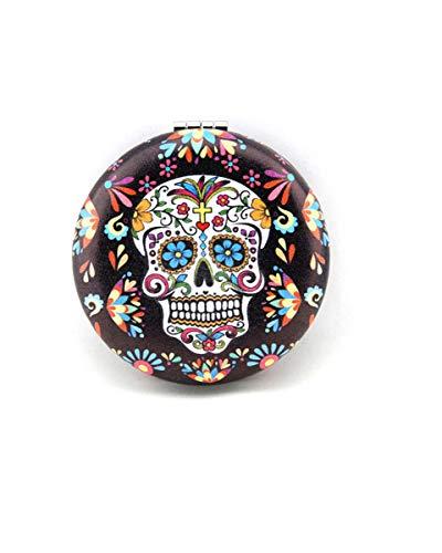 Sugar Skull Compact Mirror Make Up Mirror For Women Skull Gifts (Colorful Skull) ()