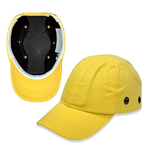Lucent Path Yellow Baseball Bump Cap - Lightweight Safety hard hat head protection Cap by Lucent Path