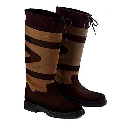Piel Equitación de Marrón Mujer Para Cedar Toggi Botas de Brown xqEcIg