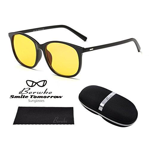 Night Driving Glasses Polarized Sunglasses Anti Glare Rainy Safe HD Night Vision - Yellow Polarized Glasses