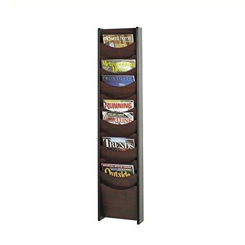 Safco Products 4331MH Wood Magazine Rack, 12 Pocket, Mahogany