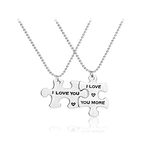 Promini Adjustable I Love You Pendant Necklace Gift For Lovers Couples Best (Qvc Gift Card)
