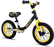 KOOKIDO® Sport Balance Bike with Real AIR Tires, Kids Bike with a Damping Mechanism, 12 inch No Pedal Bike, 12