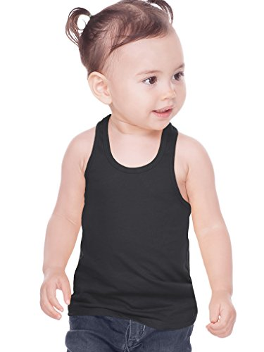 Infant Jersey - Kavio! Unisex Infants Sheer Jersey Racer Back Tank Black 12M