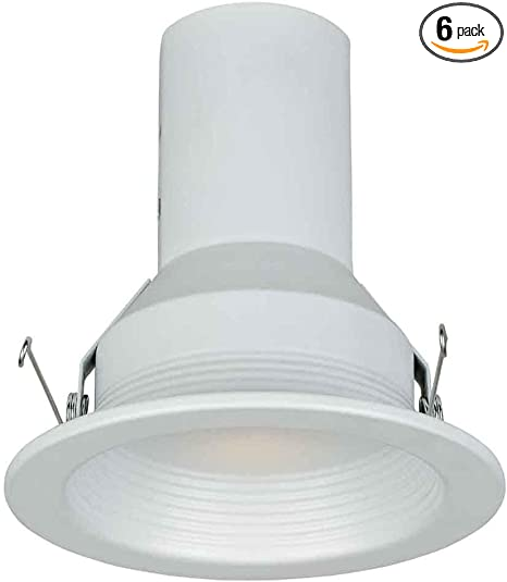 White Eyeball Trim Commercial Electric 4 in