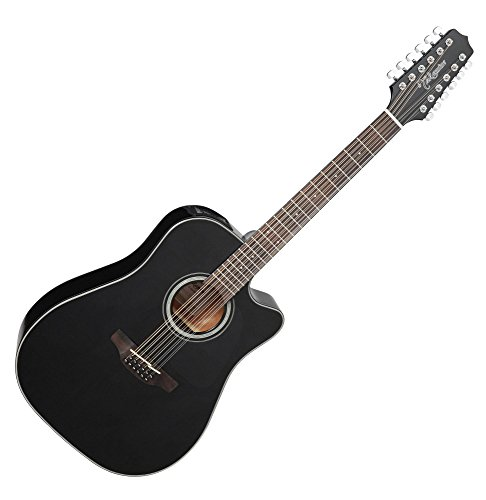 Takamine G Series GD30CE-12 Dreadnought 12-String Acoustic-Electric Guitar Black ()