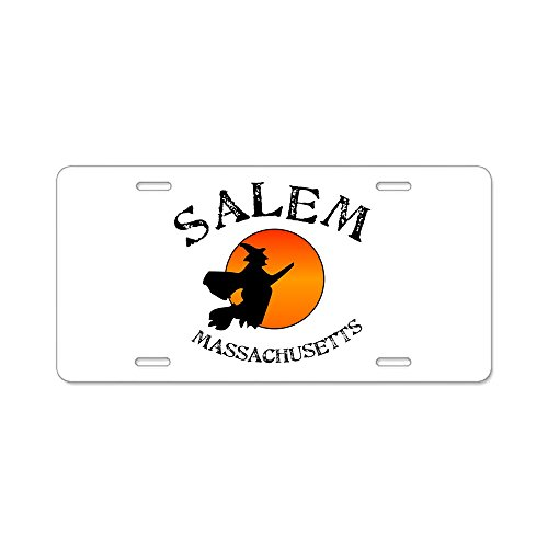 CafePress - Salem Massachusetts Witch - Aluminum License Plate, Front License Plate, Vanity Tag