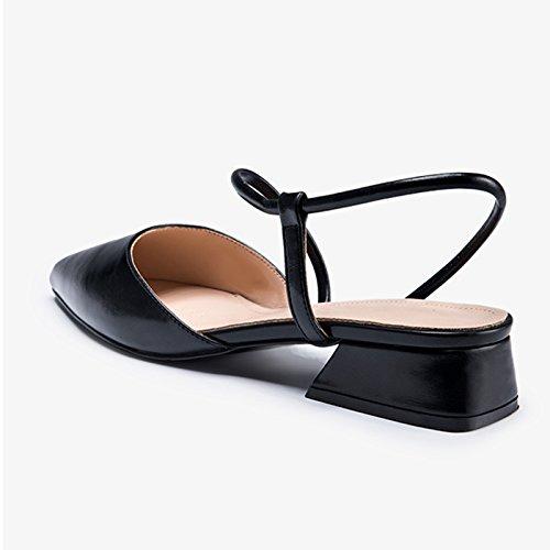 De Están 35 Verano Puntiaguda Sandalias Jianxin Hadas Mujer color Negro Tamaño Hermana Zapatos Llenas Y Primavera Negro Mujer Las Suave wUvqCEv