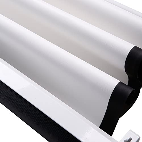 Tama/ño:178 x 178 cm CCLIFE Pantalla para proyector Formato 1:1 opci/ón de tama/ño garant/ía de 2 a/ños 203x203cm 178x178cm 152x152cm 4:3,16:9 y Otros tambi/én utilizable como Pantalla Full HD y 3D