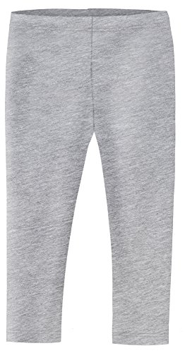 City Threads Little Girls' Cotton/Poly (90/10) Cropped Capri Legging For Summer, Play and School, Heather Gray, 6 (Leggings Toddler Capri)