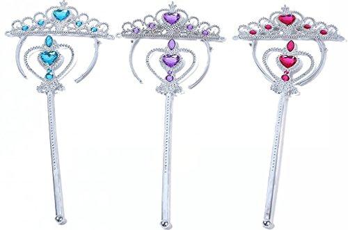 Tacobear 3 Set Princess Tiaras Dress up Accessories with ...