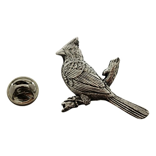 Cardinal Pin ~ Antiqued Pewter ~ Lapel Pin ~ Sarah's Treats & Treasures