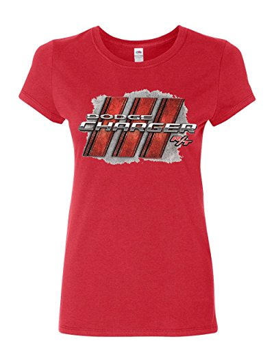 Dodge Charger R/T Women's T-Shirt American Muscle Car Cotton Tee Red M ()