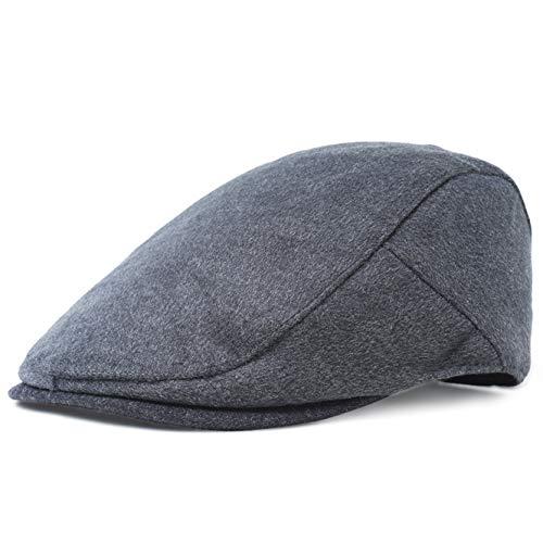 BABEYOND 1920s Gatsby Newsboy Hat Cap for Men Gatsby Hat for Men 1920s Mens Gatsby Costume Accessories (Dark Gray-1, Small/Medium) -